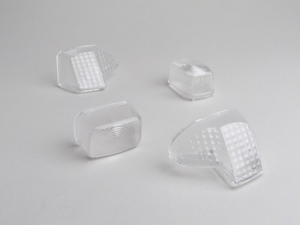 Indicator lens set -BGM STYLE set of 4- Yamaha BWs  (1999-) - colourless