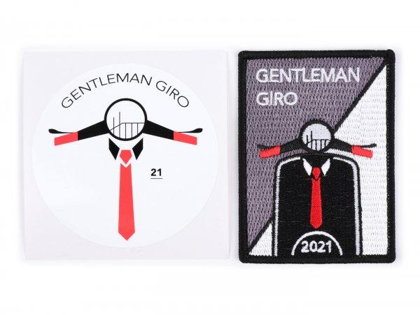 Vespa Gentleman Giro Charity Support Set Parche & Pegatina