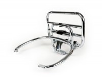 Rear rack folding -PIAGGIO- Vespa GTS, GTS Super - 125-200-250-300cc - chrome - for GTS/Super Topcase