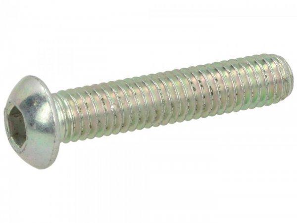 Vite vite con testa con esagono incassato -testa piatta -ISO 7380- M6 x 30mm (8.8)