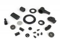 Rubber kit -RMS (Made in Italy) 22 pcs- Vespa VESPA V50 (V5A1T, 92877-914747), V50 S (V5SA1T, 15325-79734),V50 Special (V5A2T-V5A3T), SS50 (V5SS1T-V5SS2T), V90 (V9A1T-184926), SS90 (V9SS1T-V9SS2T), PV125 (VMA1T-VMA2T, 0192144)