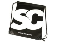 "Sacca con cordoncino - Nylon -SCOOTER CENTER ""SC"" 40x50cm- nero/bianco"