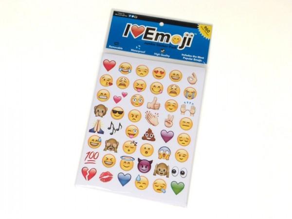 Kit adhesivos -I love Emoji- emoticonos - 20 hojas - 960 piezas