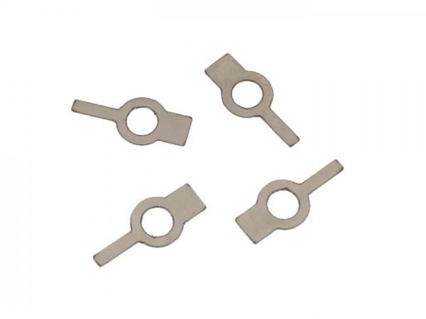 Sicherungsblech-Set Lüfterrad M6 -OEM QUALITÄT- Vespa Wideframe V98, V1-V15, V30-V33, VU, VN, VM, VL, VB, VBA, VNA, VBB, VNB, GS150 / GS3, GL150 (VLA1T), GT125 (VNL2T), GTR125 (VNL2T), Sprint150 (VLB1T), GS160 / GS4 (VSB1T), SS180 (VSC1T)