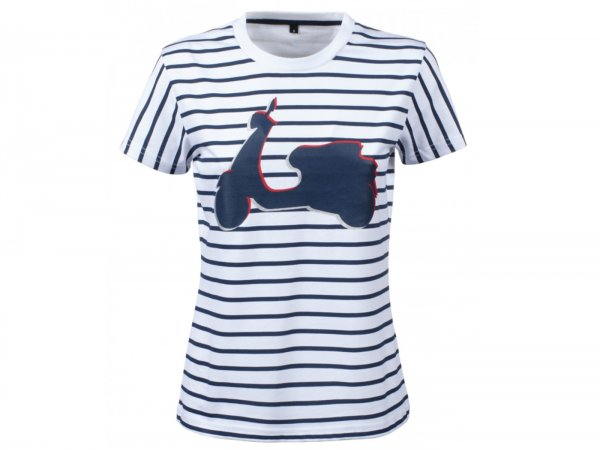 "T-Shirt -VESPA- Woman ""Graphic Shape"" - grey - XL"