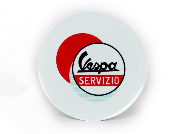 Teller -Vespa Servizio - Ø=32cm, weiß / rot, Keramik