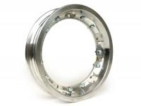 Wheel rim -PINASCO, V2.0, tubeless 2.10-10 inch, aluminium, split rims- Vespa (type PX) - Vespa Smallframe V50, 50N, Special, PV, ET3, PK50-125 (S/XL/XL2), Largeframe PX, T5, Sprint, Rally, GT/GTR, LML Star, Deluxe - aluminium, polished