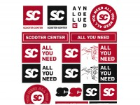 Set adesivi -SCOOTER CENTER all you need 17 pezzi- 190x215mm