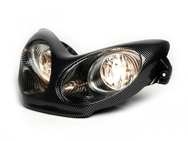 Scheinwerfer -BGM Next Generation- MBK Nitro (YQ50/L, 2-Takt), Yamaha Aerox (YQ50/L, 2-Takt) - Carbon Style