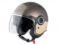 Helm -VESPA VJ- Jethelm, braun / beige -