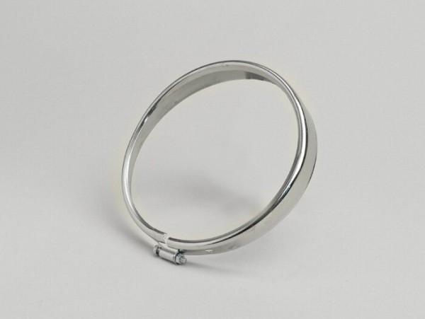 Scheinwerferzierring -OEM QUALITÄT, Ø=105/115mm (Glas/außen)- Vespa V50, V90 - Chrom
