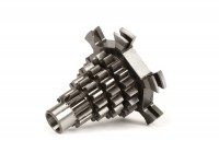 Gear cluster -BENELLI- Vespa PX125, PX150, PX200, T5 125cc, Cosa, Rally - 12-13-16-19 - short 3rd gear, extra short 4th gear