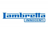 Aufkleber -LAMBRETTA Innocenti Lambretta 130x32mm- Blau