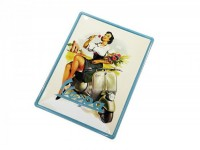 "Reklameschild -RETRO- Blech ""Vespa Pin-Up"""