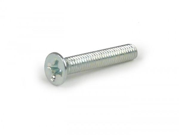 Schraube Senkkopf-Kreuzschlitz -DIN965- M3 x 18mm - Vespa PX Lusso, 98, My, 2011 - verzinkt (verwendet für Elestartschalter / Startknopf / Elektrostarter)