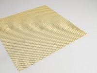 Racing grille -8mm- (300x300mm) - yellow painted