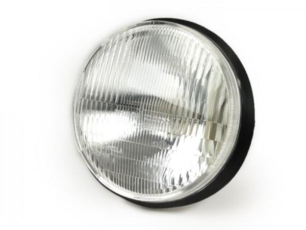 Scheinwerfer -PIAGGIO Ø=135mm- PK XL/XL2 (seitlich verschraubt) - 15W (P26S) Birne - auch für Bilux passend (Bilux Lampenstecker wird benötigt)