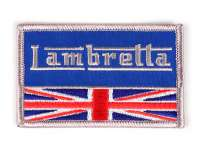 Patch -LAMBRETTA UNION JACK- 80x60mm