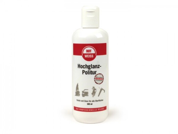 High gloss polish -ROTWEISS- 500 ml