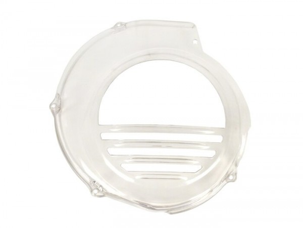 Flywheel cover -RICAMBIO RAPIDO- Vespa PX80, PX125, PX150 - transparent- models with electric starter