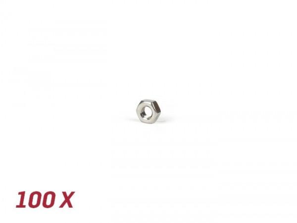 Dado -DIN 934 inox- 100 pz - M4