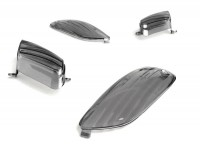 Indicator lens set -BGM STYLE set of 4 - Aprilia SR 50 R - black