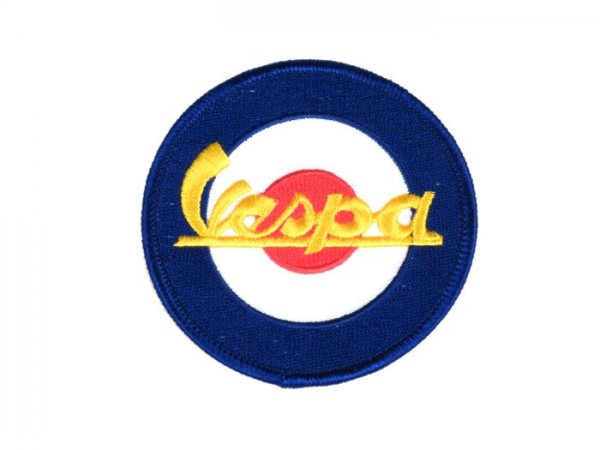Patch thermocollant -VESPA target- bleu/rouge/blanc - Ø=76mm
