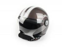 Helm -BOOST B730 RETRO 2- Braun/Perlmutt -