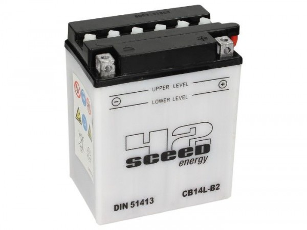 Batterie -Standard SCEED 42 Energy- CB14L-B2 - 12V, 14Ah - 135x91x167mm (inkl. Säurepack)
