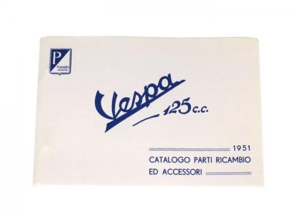 Catalogue des pièces de rechange -VESPA- Vespa 125 (1951) - italien