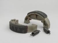 Brake shoes rear -GALFER Ø=100x20mm- PIAGGIO TPH50 (93-95), NRG 50 (94-98), NRG Extreme AC 50 (1999), NTT 50 (1995), Quartz 50 (1992), Sfera 50, Sfera 50 RST, Sfera 80, Zip 50 (1992), GILERA Storm 50 (1994)