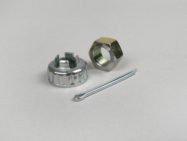 Lock washer kit rear hub nut -RMS M16, SW24- Vespa PX (since 1984), PK XL, Cosa, Piaggio automatic scooter, Gilera automatic scooter