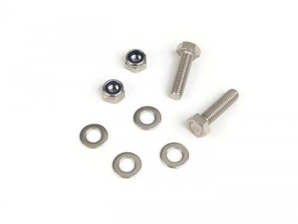 Fastener kit for rear footboard support -MB DEVELOPMENTS stainless steel- Lambretta LI (Serie 1-2), TV (Serie 2)