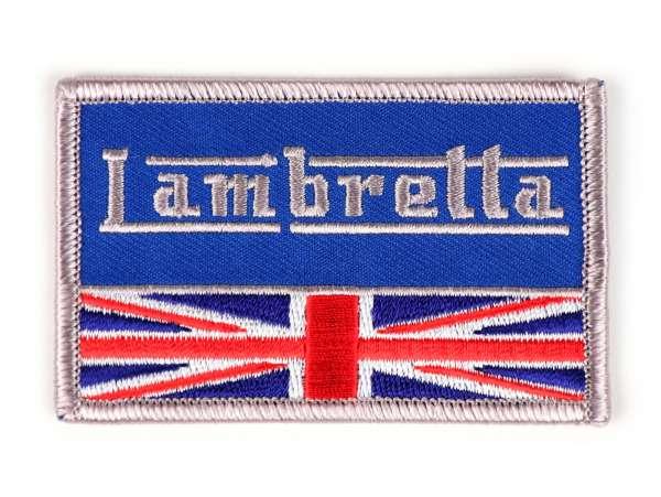 Patch -LAMBRETTA UNION JACK- 80x60mm