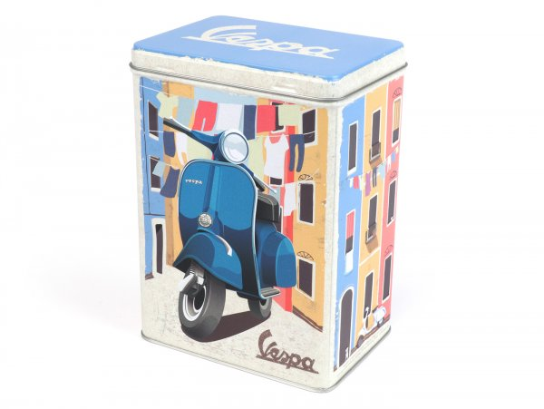 "Teedose -Nostalgic Art- Vespa ""Italian Laundry"", 10 x 14 x 20cm"