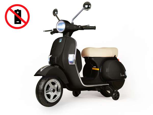 Scooter for kids -Vespa PX150- electric (supplied without battery) - black
