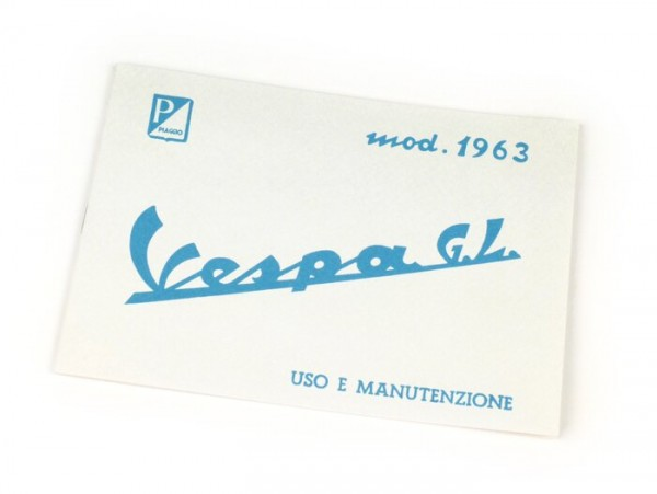Owner's manual -VESPA- Vespa GL (1963)