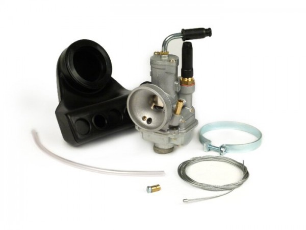 Vergaser -POLINI- CP 17,5mm - Vespa V50, 50N, PK50 S, PK50 XL, PK 50XL2, PK50 HP - passend für original Ansaugstutzen 16/16 - AW=Ø21,6x26,5mm