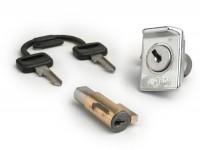 Lock set -PIAGGIO 38,5x4mm- Vespa PX (-1984), V50 Special (V5A2 till 3T), GT125 (VNL2T, since no. 62685), GTR125 (VNL2T), TS (VNL3T), PV125 (VMA2T, since no. 028960), ET3 (VMB1T), Super 150 (VBC1T) - 2-pieces