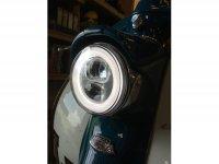 Faro incl. telaio di montaggio -MOTO NOSTRA- LED HighPower - Ø=120mm - 12V DC (E9) - Lambretta LI (Serie 1-3)