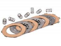 Kit dischi guarniti frizione -POLINI Vespa tipo 7 molle (Rally200, PX200, T5 125cc)- 3 dischi guarniti (incl. molle e dischi in acciaio)