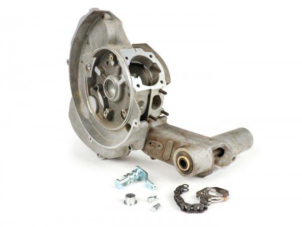 Motorgehäuse für Vespa V50, V90, PV, ET3, PK S, PK XL, PK XL2, ETS, Motovespa PK75 (Ansaugstutzen 3-Loch, Schaltung zwei Züge)