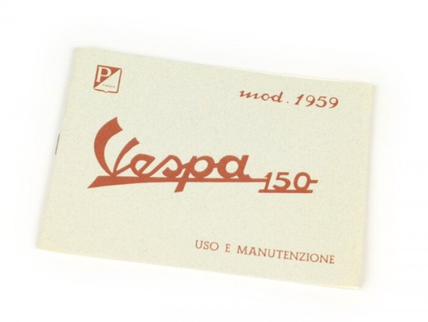 Owner's manual -VESPA- Vespa 150 (1959)