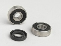 Bearing and oil seal set for water pump -OEM QUALITY- Minarelli 50cc LC