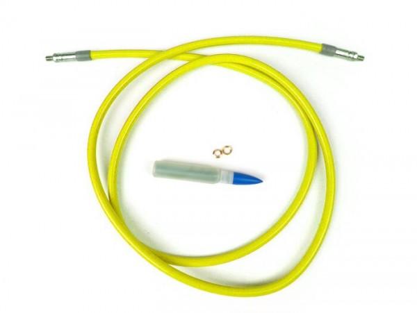 Tubería freno -SPIEGLER MODULAR (sin racores)- Vespa, Lambretta - amarillo - 1400mm
