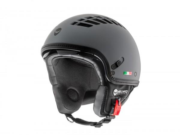 Helm -HELMO MILANO- Demi Jet, ViaColVento, rubber smoke grey - XS (53-54cm)