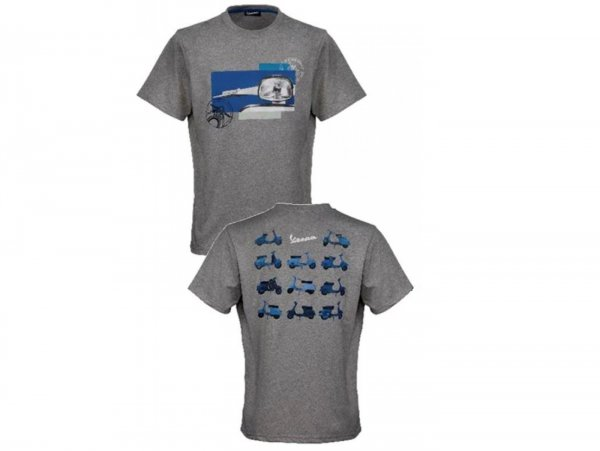 """T-Shirt -VESPA """"Heritage Collection""""- grey - S"""