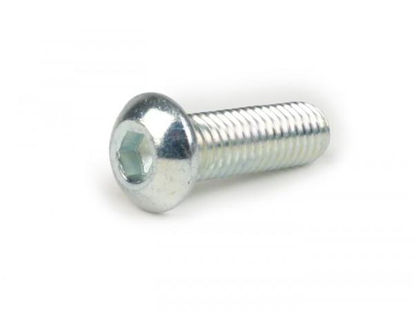 Tornillo tipo Allen cabezales lenticulares ULS -DIN 7830- M8 x 25mm - cincado (utilizado para escape Vespa PX 2011)