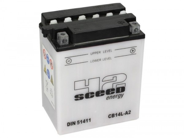 Batterie -Standard SCEED 42 Energy- CB14L-A2 - 12V, 14Ah - 170x90x135mm (inkl. Säurepack)