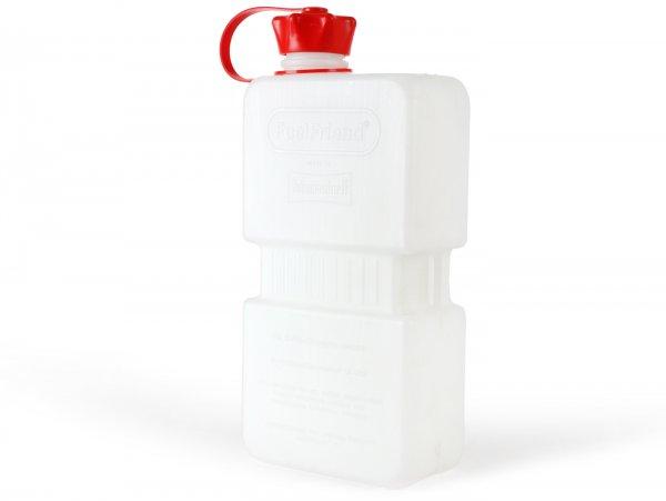 Bidón de gasolina 1.5l (1500ml) -HÜNERSDORFF FuelFriend PLUS- claro (transparente)